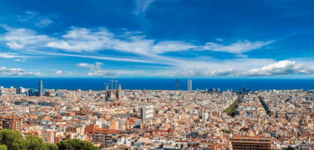 Vista panoramica de Barcelona